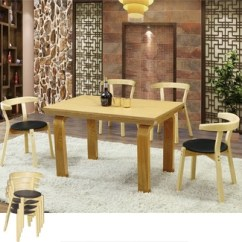 Cafe Chairs Wooden Lycra Chair Covers Nz Sanlang Solid Oak Wood Table For Shopping Mall Shop Furniture