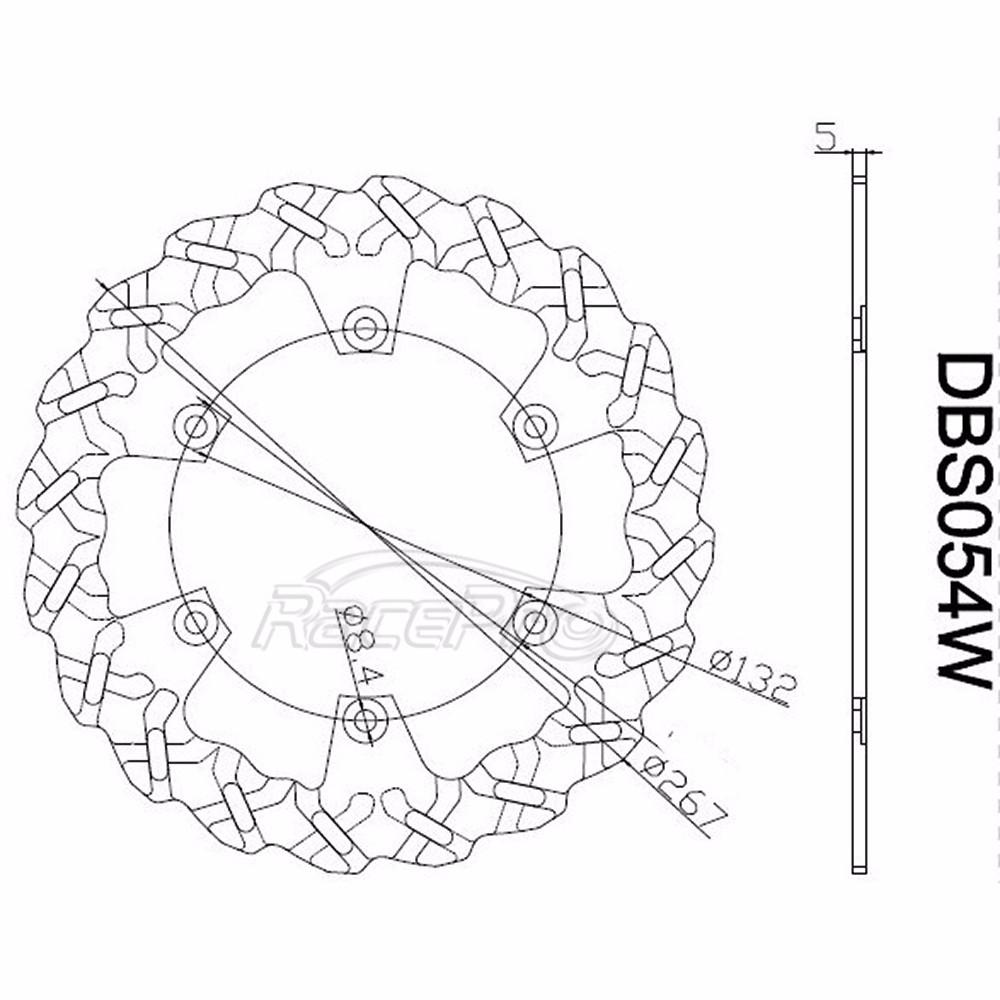 Rear Brake Disc Rotors Motorcycle For Yamaha Xp T Max 500