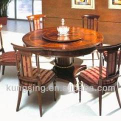 Round Dining Table For 6 Chairs Portable Manicure And Chair Imported Wooden Set Design Buy Product On