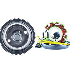 get quotations kit flywheel stator for polaris magnum 425 2x4 4x4 6x6 sportsman 335 sportsman 500 4x4 [ 1500 x 1500 Pixel ]