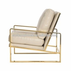 Steel Lounge Chair My Posture Goldfinger Sofa Side Plating Gold Stainless
