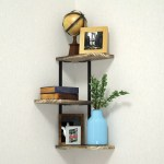 3 Tier Wall Mounted Rustic Solid Paulonia Wood Floating Corner Shelves With Metal Bracket Buy Wood Corner Shelf Design Decorative Wall Corner