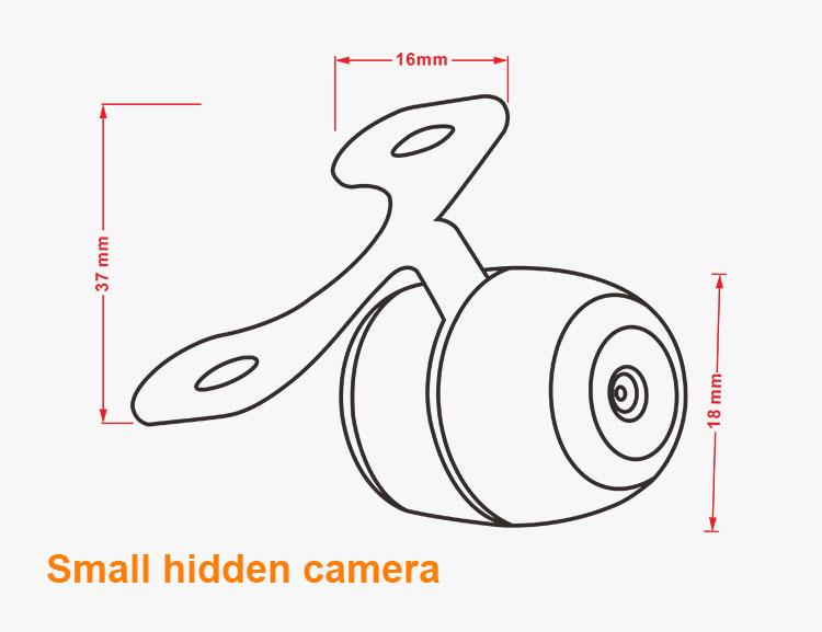 12v Small Car Video Wireless Rear View Mini Camera For