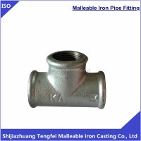 Galvanised Malleable Iron Pipe Fittings Tee/gi Tee Pipe