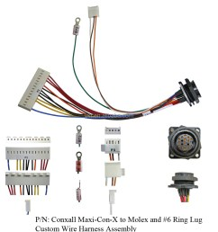 conxall maxi con x to molex and 6 ring lug custom wire harness assembly [ 1000 x 1000 Pixel ]