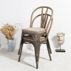 Industrial Metal Chairs Rattan And Table Wholesale Antique Iron Wood Seat Cafe Bistro Dining Chair