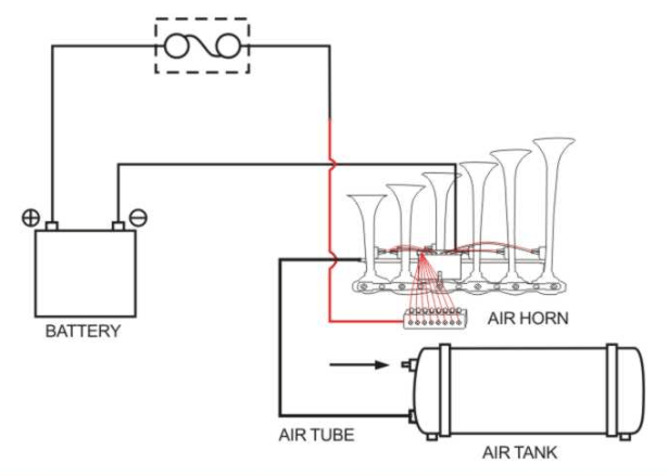 [GO_8327] Truck Air Horn Diagram