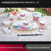 Fancy Bulk Glazed Decal Porcelain Dinnerware Sets