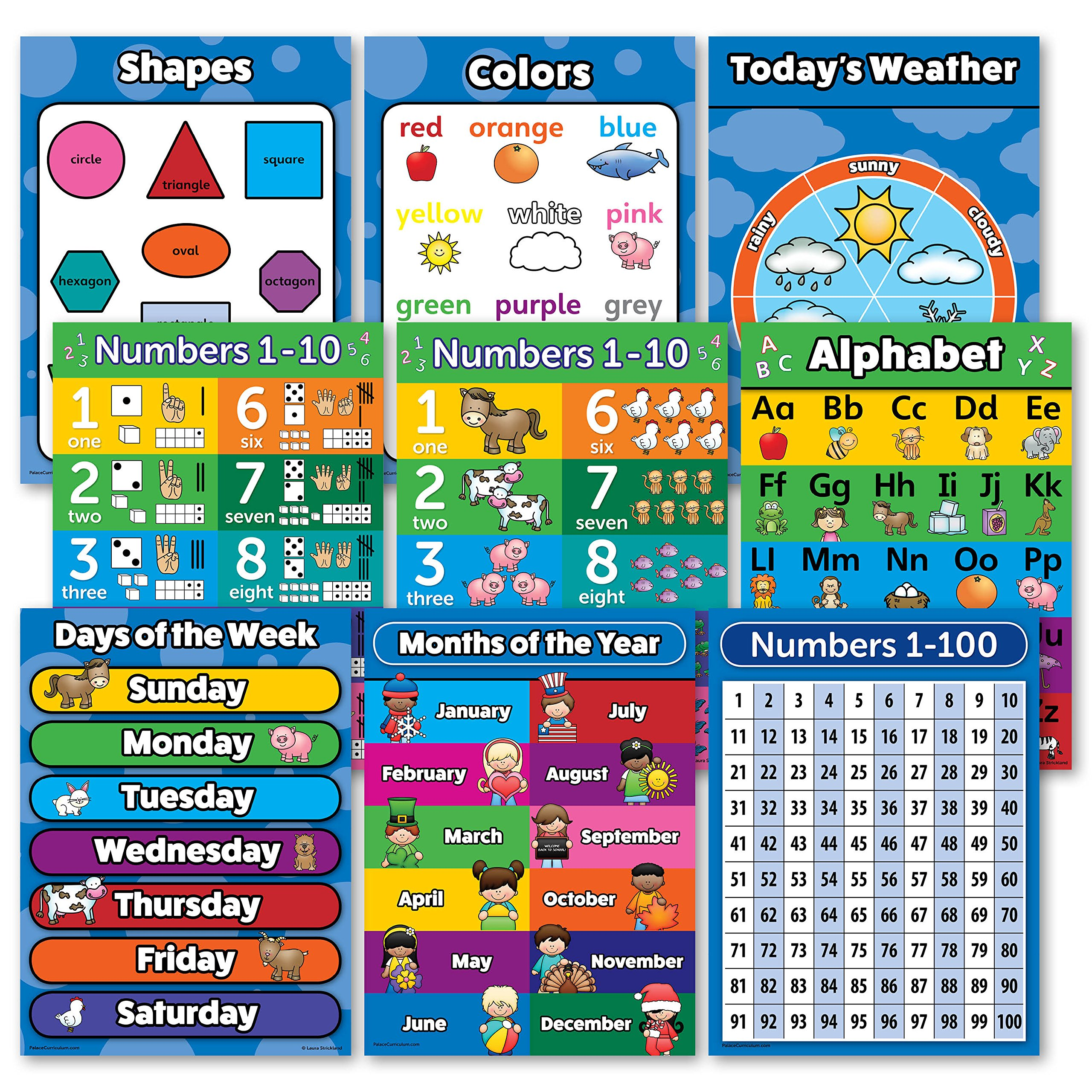 Buy 2d And 3d Shapes Educational Chart Poster 13 X 19in In