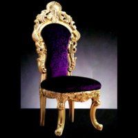 Top Quality Golden Crown Royal Chair Yj