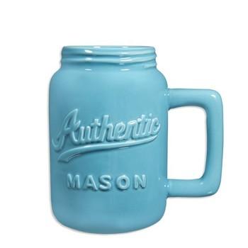 logo customized blue ceramic
