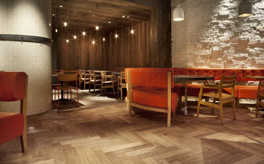 V Shape Flooring Natural Color HerringboneNatural Acacia