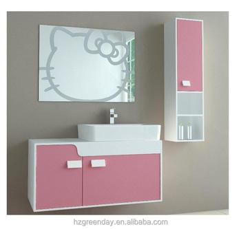 Hello Kitty Pink Cute Kids Bathroom Cabinet Vanity Buy Kids Bathroom Cabinet Hello Kitty Bathroom Vanity Cartoon Bathroom Cabinet Product On Alibaba Com