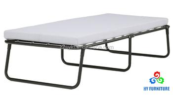 Sleep Master Traveler Elite Metal Steel Frame Folding Guest Bed With Memory Foam Mattress