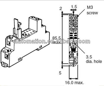 Omron relay socket P2RF-08-E for G2R-2-S, View P2RF-08-E