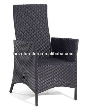 wicker recliner chair cover rental madison new outdoor furniure adjustable back reclining sgs rattan