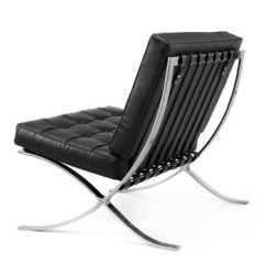 Barcelona Chairs For Sale Metal Bistro Chair Public Area In Black Gunuine Leather Hot 8030