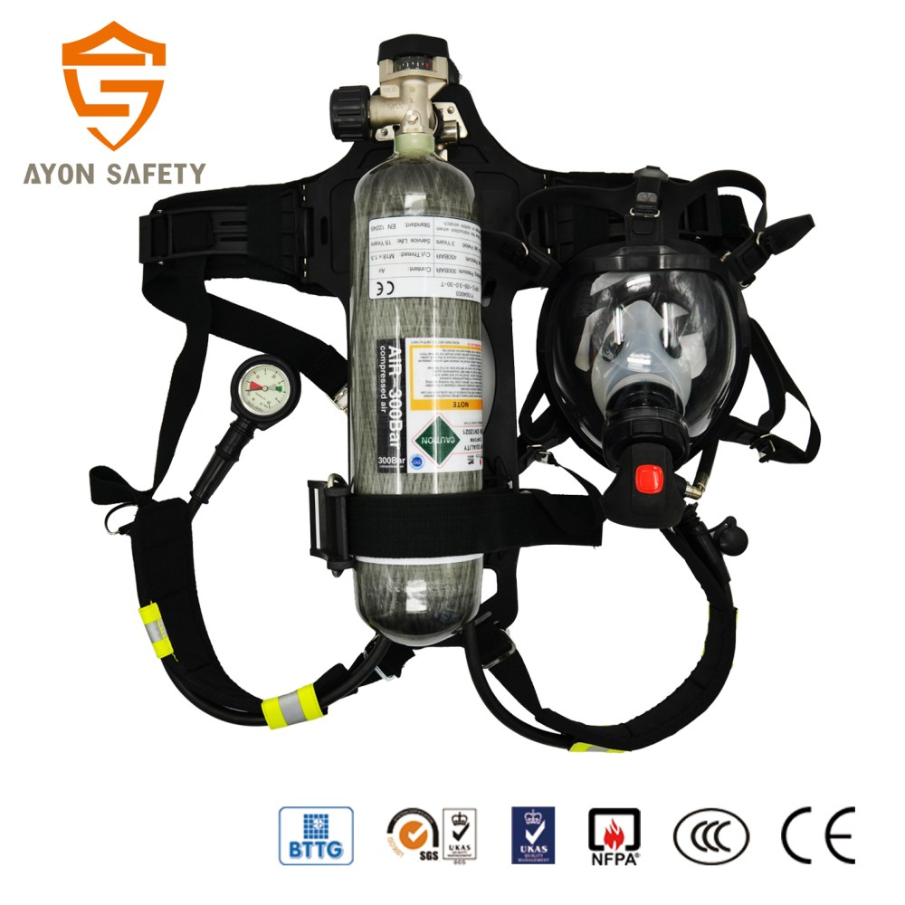 medium resolution of self contained breathing apparatus scba rhzkf 6 8 30 positive pressure air respirator ayonsafety