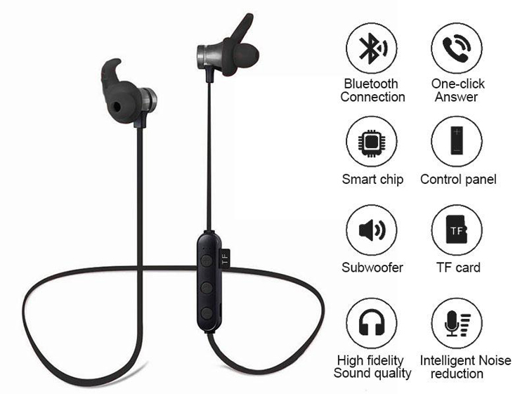 Hot Selling Wireless Bluetooth Headset With Sd Card Port