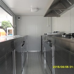 Chinese Kitchen Range Hood Painted Gray Cabinets Food Caravan For Mobile / Japanese Kiosk And ...