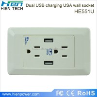 DC5V 2A usb output usa usb wall socket wall mounted power ...