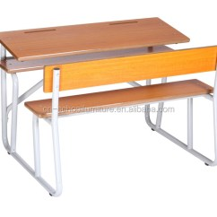 Chair Connected To Desk Bamboo Back Chairs Double Seats School Table With Together For 2 Person