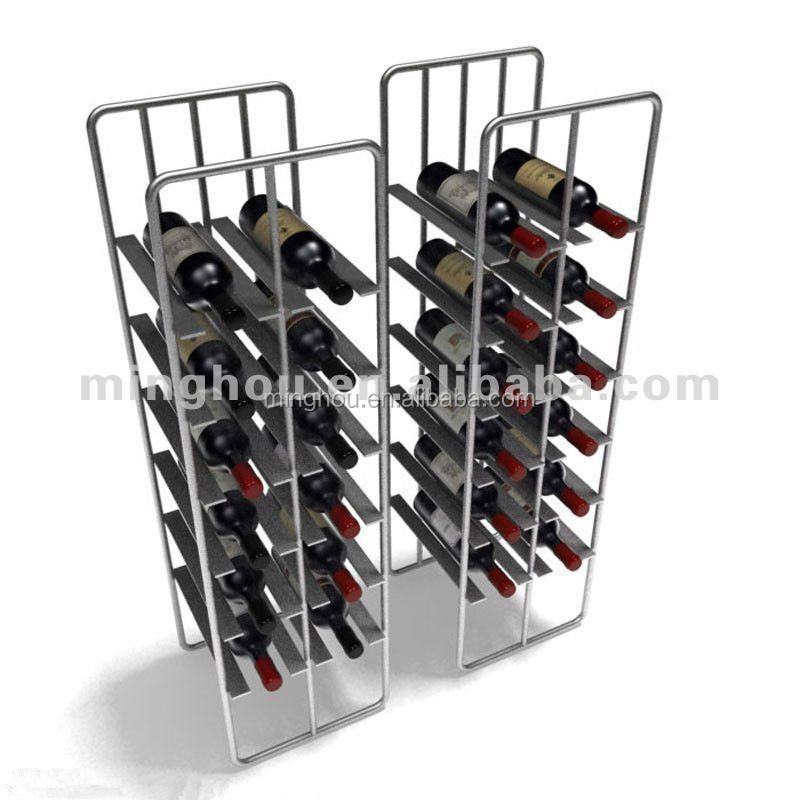 double face grand casier a vin en metal pliable grand ecran et etageres de magasin pour