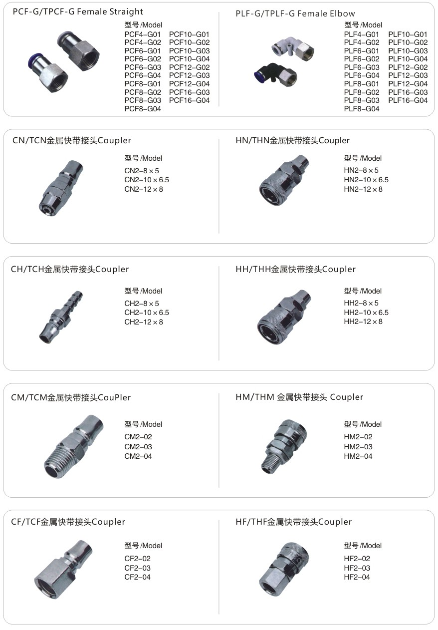 Straight Male Tube Fittings Female Plastic Hose Connector
