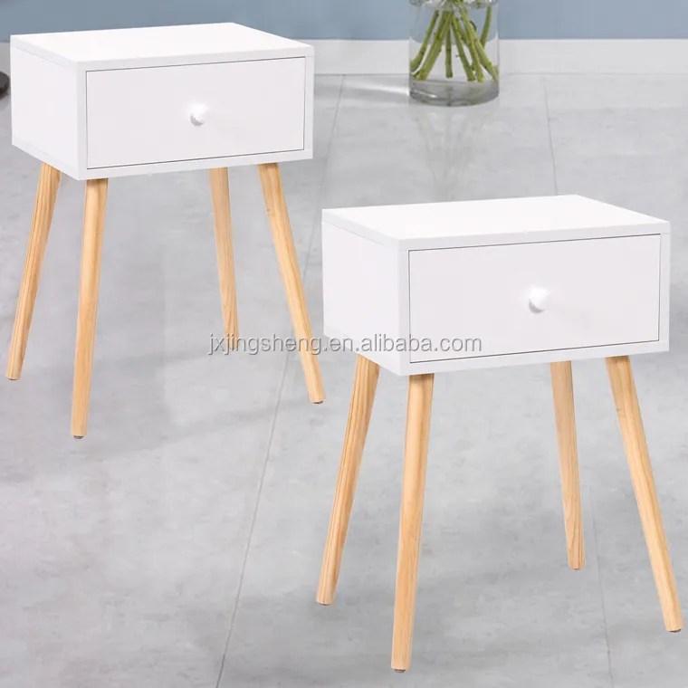 table d angle retro en bois blanc meuble decoratif moderne avec tiroir pour the table de chevet buy table a the table de chevet avec tiroir table de