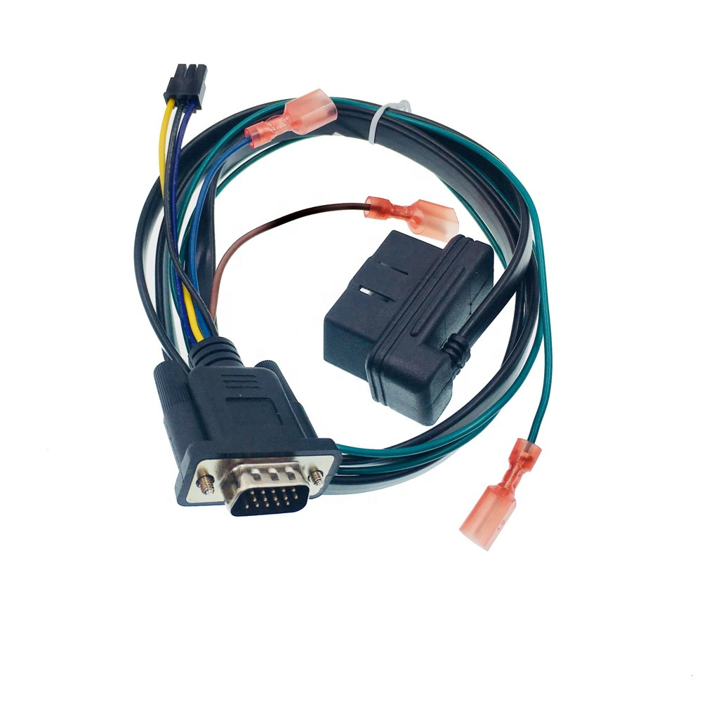 hight resolution of top sale high quality obd gps tracking cable obdii auto wiring harness