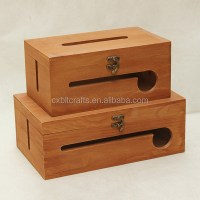 Cable Wire Storage Box /large Tissue Box Capacity Wooden ...