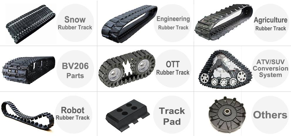 Asv /terex /cat Rubber Track Rubber Pad Rubber Crawler