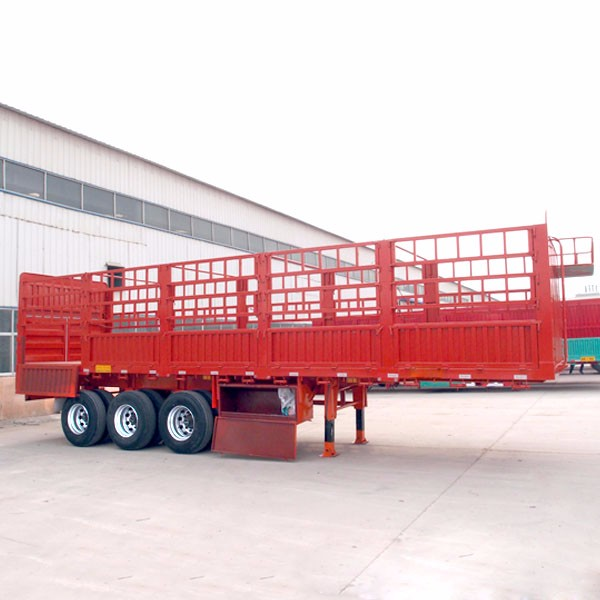 Multi function 3 Axles Flatbed Side Wall fence Cargo semi trailer