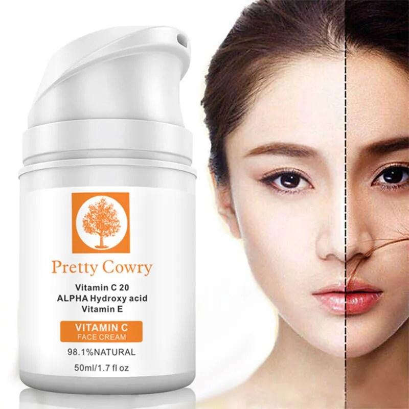Pretty Cowry Skin Care Nourishing Whitening Alpha Hydroxy Acids Vitamin C Cream - Buy Vitamin C Cream For Skin,Alpha Hydroxy Cream,Alpha Hydroxy Acids Cream Product on Alibaba.com