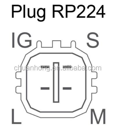 4 Pin Square Denso Toyota Alternators Plug Connector Wire