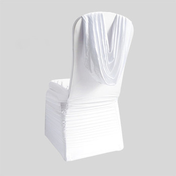 chair covers wholesale china dining cushion pleated spandex swag back buy