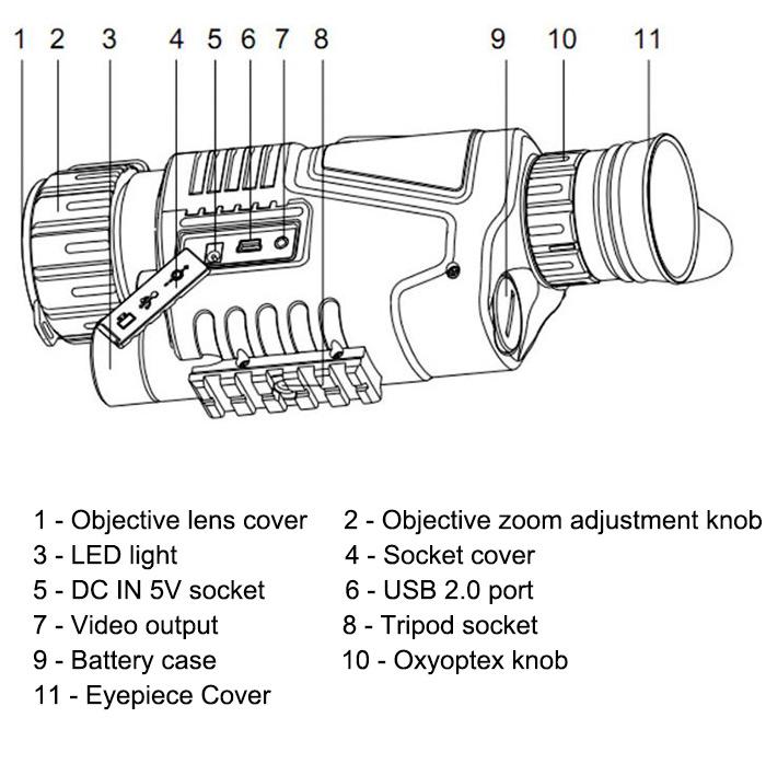 5 X 40 Infrared Digital Night Vision Telescope High