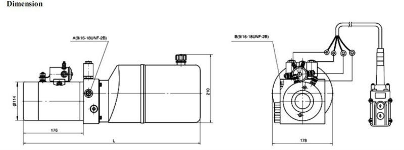 hydraulic power units for tipper trailer 12VDC, View 12