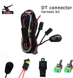 pudoo deutsch wiring harness kit 12v 40amp fuse relay on off switch for driving light [ 1500 x 1500 Pixel ]
