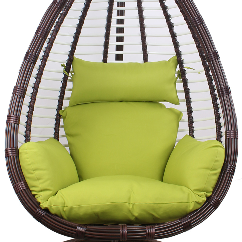hanging chair big w single glider outdoor rattan small house interior design oval shape hollow egg shaped balcony hammock indoor adult round