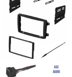 asc audio car stereo radio install dash kit wire harness and antenna adapter to install a double din radio for some 2001 2002 2003 2004 mercedes c class  [ 1179 x 1500 Pixel ]