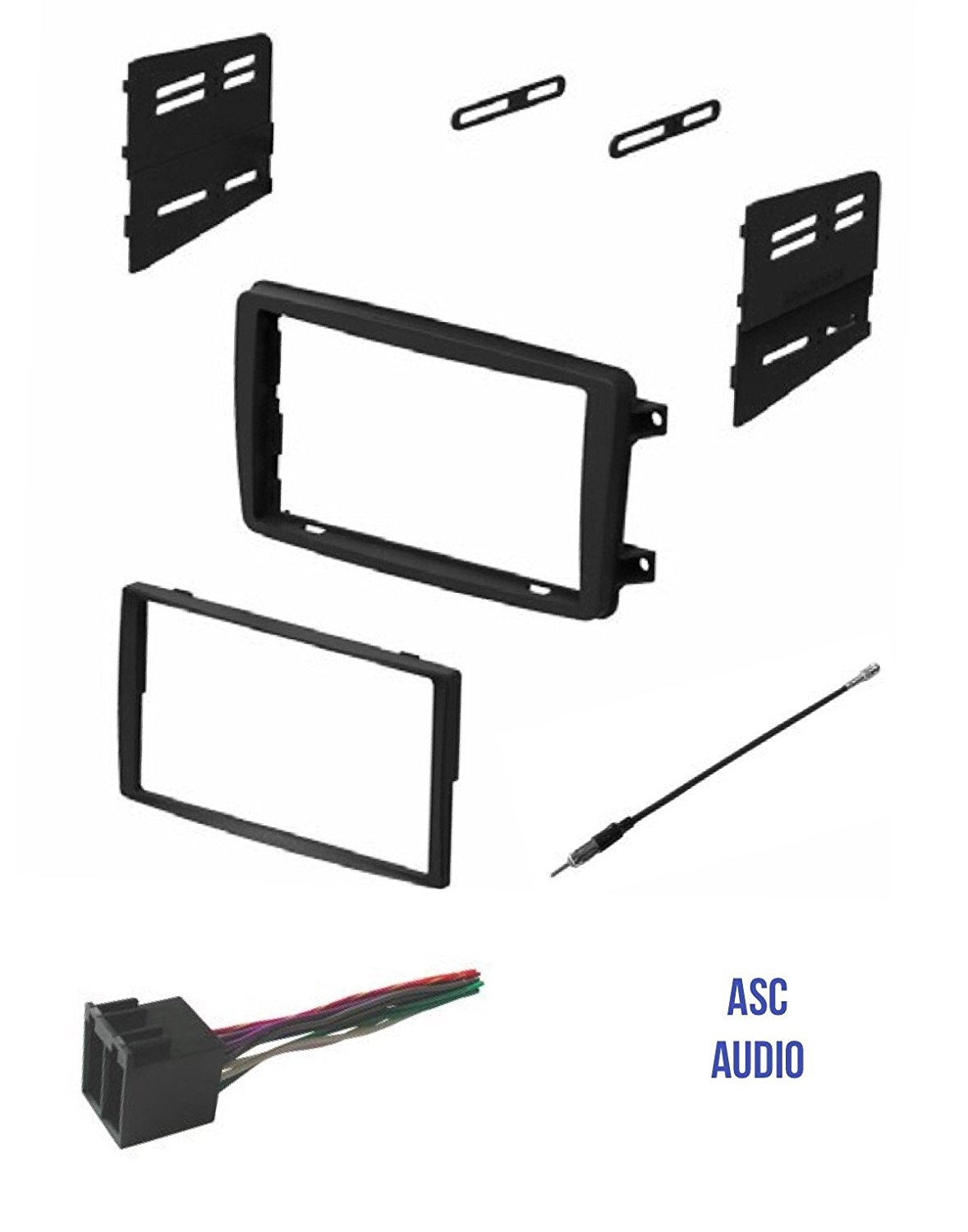 hight resolution of asc audio car stereo radio install dash kit wire harness and antenna adapter to install a double din radio for some 2001 2002 2003 2004 mercedes c class