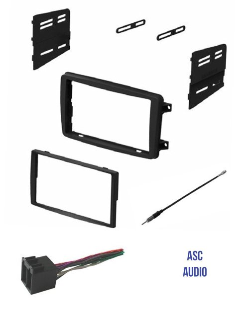 small resolution of asc audio car stereo radio install dash kit wire harness and antenna adapter to install a double din radio for some 2001 2002 2003 2004 mercedes c class