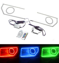 get quotations ijdmtoy 132 led rgb multi color led angel eyes halo rings remote control [ 1000 x 1000 Pixel ]