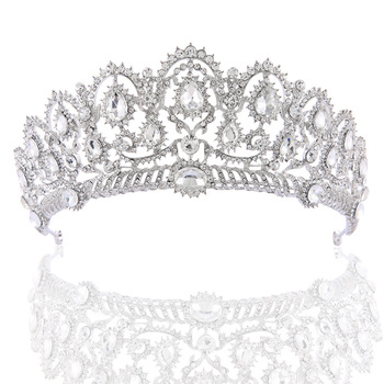 High Full Crystal King Wedding Bridal Party Pageant Prom