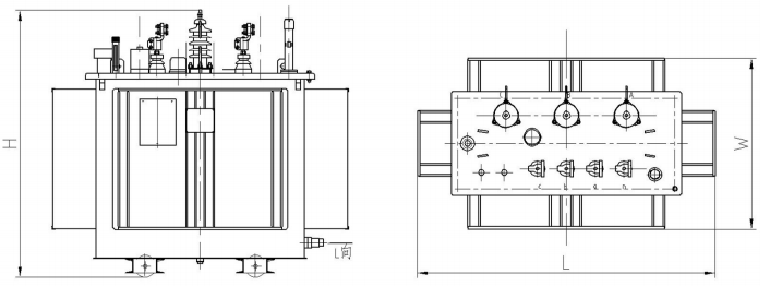 Power 3 Phase Step Down 13.2kv Distribution Transformer