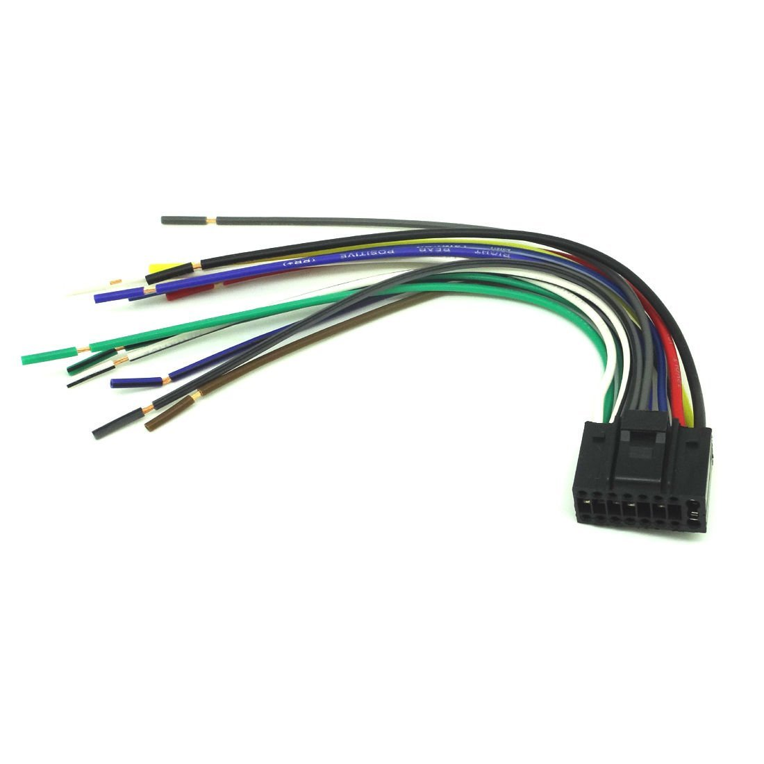 hight resolution of get quotations conpus 16 pin radio car audio stereo wire harness for kenwood kdc mp242 player