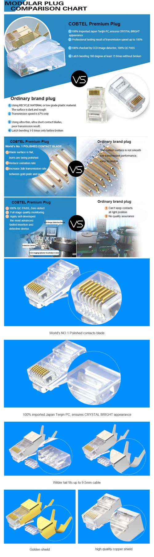 small resolution of well priced utp ftp sftp cat6 cat6a utp networking cable plug rj45 keystone jack