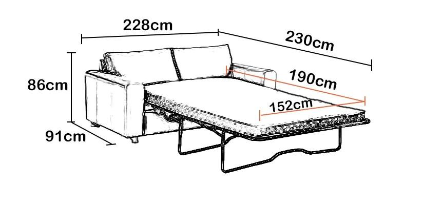 reine taille canape convertible lit avec confortable memoire matelas en mousse