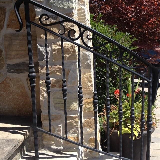 Exterior Handrail Lowes Wrought Iron Railing Stair Railing Buy | Lowes Exterior Stair Railing | Composite Decking | Matte Black Aluminum Railing | Railing Systems | Metal | Porch